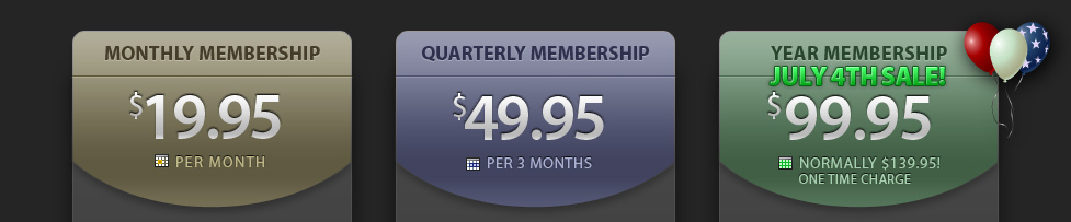 JamPlay Pricing Info, $19.95 Monthly, $49.95 Quarterly, $99.95 Yearly