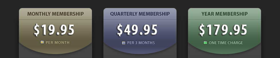 JamPlay Pricing Info, $19.95 Monthly, $49.95 Quarterly, $139.95 Yearly