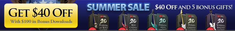 Summer Sale - Save $40 and Get 5 JamTrack Packs Free!