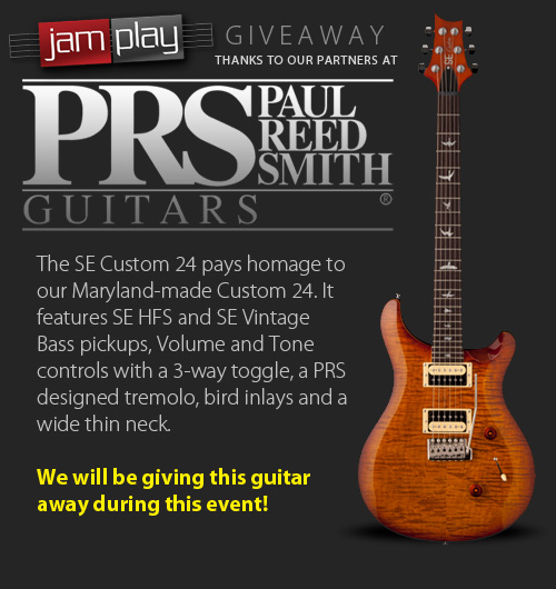 PRS Giveaway from JamPlay.com