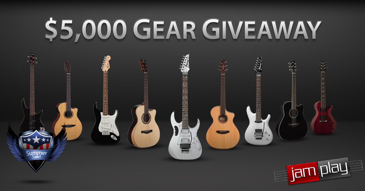 JamPlay Giveaway - Summer Sale - 9 Guitars - 1 Amp - 100% Free