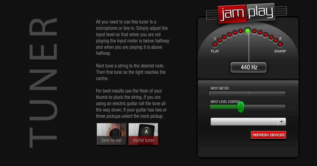 Online Guitar Tuner | Microphone-Based | JamPlay
