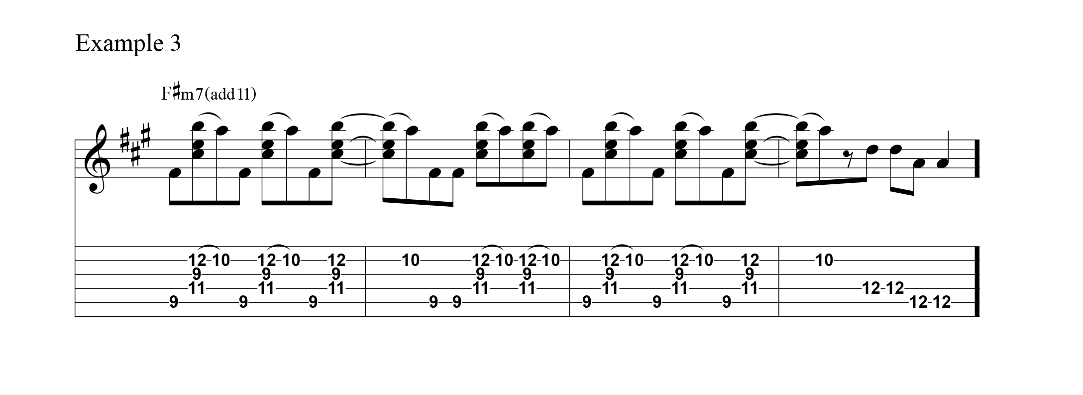 Flashback 1983 learn 3 rock licks the basic chord is an fm7 played with an added b to create an accented 11th this chord could also be seen as a suspended chord resolving into a minor hexwebz Choice Image