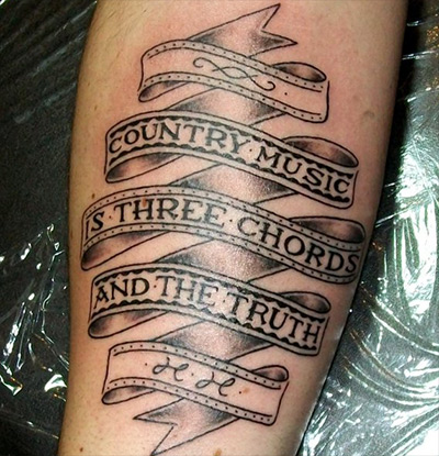 Country Music Tattoo